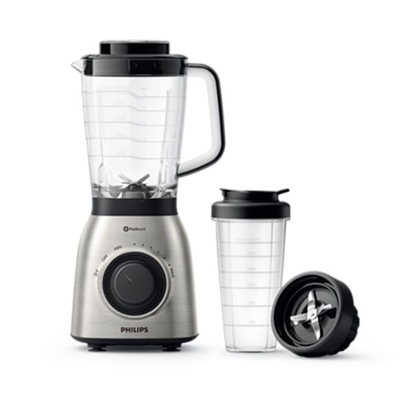 PHILIPS HR3553/00 VIVA COLLECTION BLENDER (700 W + ON THE GO BOTTLE)