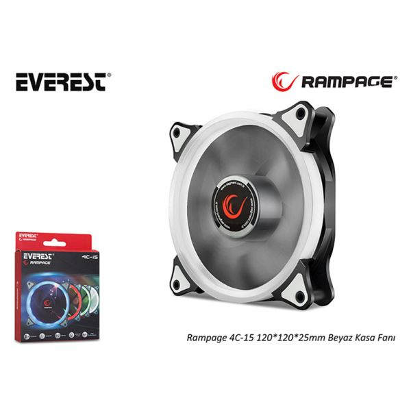 RAMPAGE 4C-15 120MM BEYAZ LED FAN