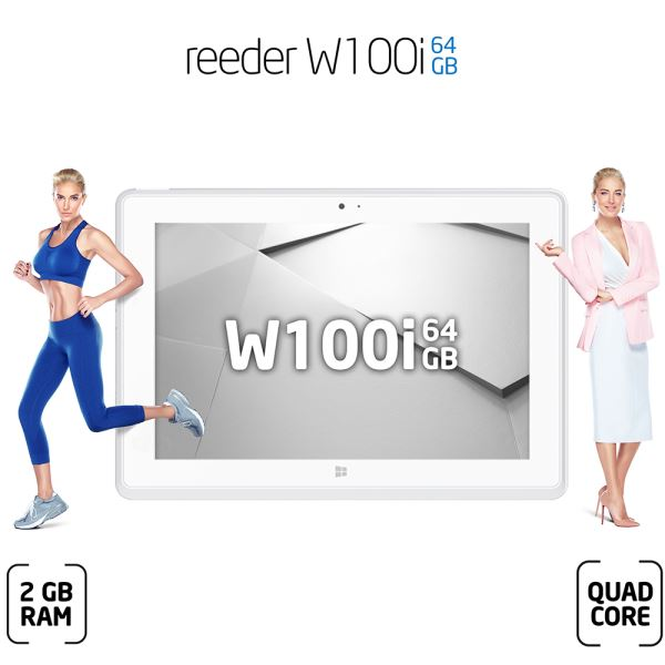 REEDER W100İ INTEL ATOM Z3735D 1.83GHZ-2GB-64GB DİSK-10.1''-CAM-BT-WİN. 8.1