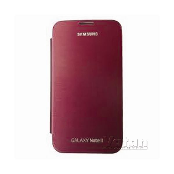 EFC-1J9FREGSTD FLİP COVER GALAXY NOTE2 KILIFI- (BORDO)