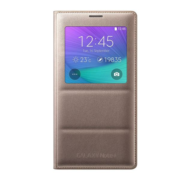 EF-CN910BEEGWW S-VİEW COVER GALAXY NOTE4 KILIFI- (BRONZ)