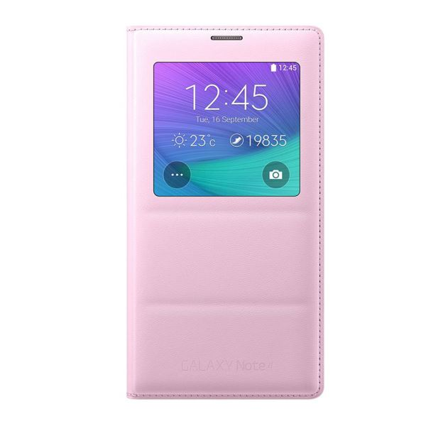EF-CN910BPEGWW S-VİEW COVER GALAXY NOTE4 KILIFI- (PEMBE)