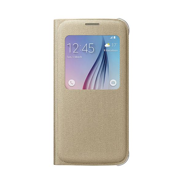 EF-CG920BFEGWW SAMSUNG GALAXY S6 S-VİEW COVER FABRİC ALTIN
