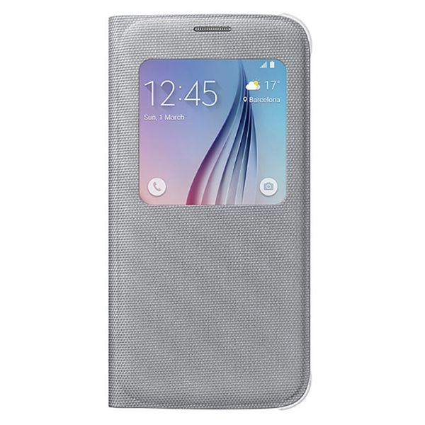 EF-CG920BSEGWW SAMSUNG GALAXY S6 S-VİEW COVER FABRİC GRİ