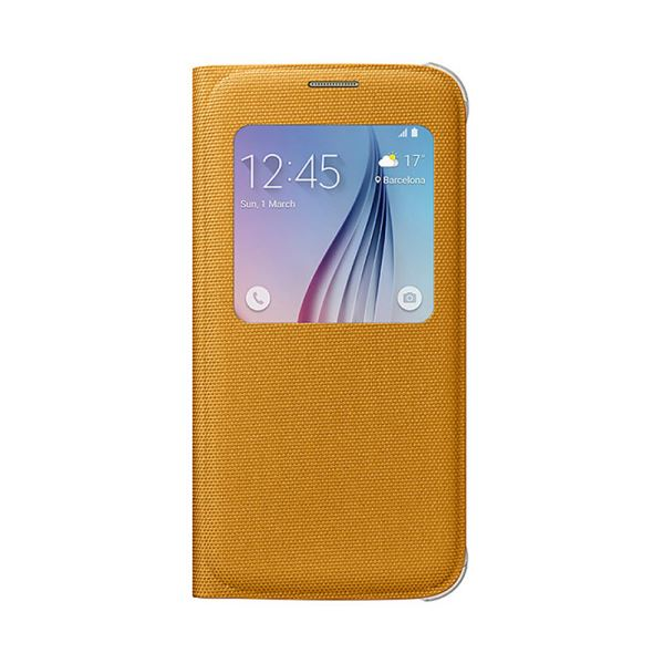 EF-CG920BYEGWW SAMSUNG GALAXY S6 S-VİEW COVER FABRİC SARI