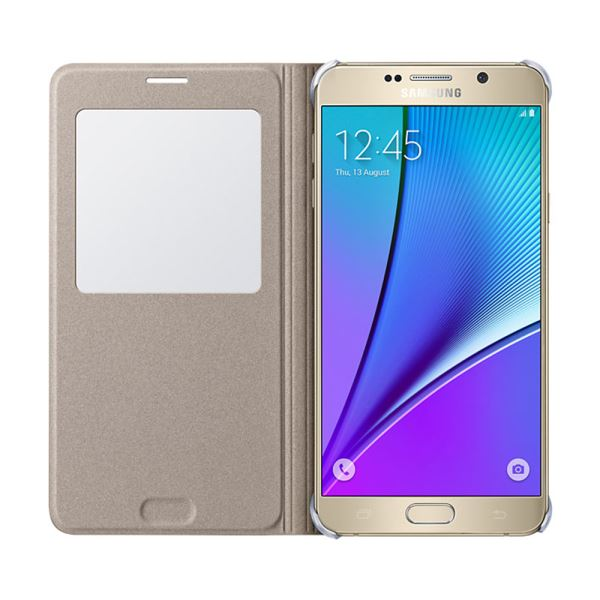 EF-CN920PFEGTR S-VİEW COVER GALAXY NOTE5 KILIF- (ALTIN)