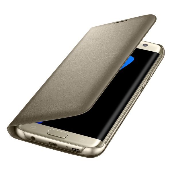 EF-NG935PFEGWW GALAXY S7 EDGE LED VİEW FONKSİYONEL COVER KILIF- (GOLD)