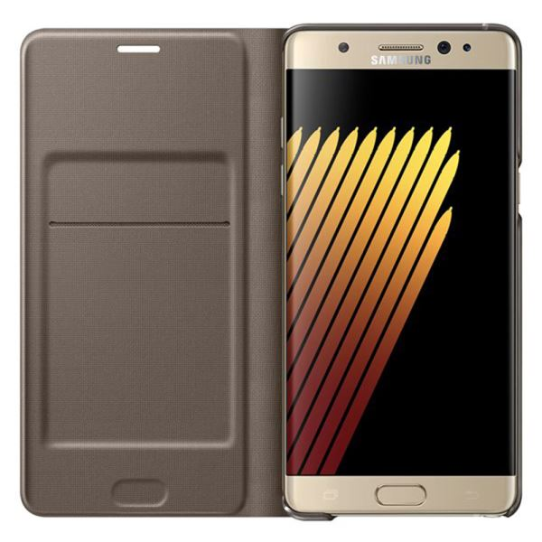 EF-NN930PFEGWW GALAXY NOTE7 LED VİEW FONKSİYONEL COVER KILIF- (GOLD)