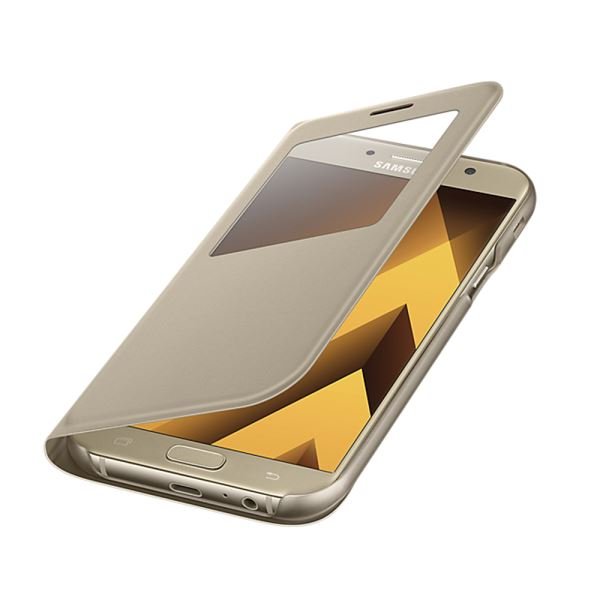 EF-CA720PFEGWW S-VİEW COVER SAMSUNG A7 (2017) KILIF- (GOLD)