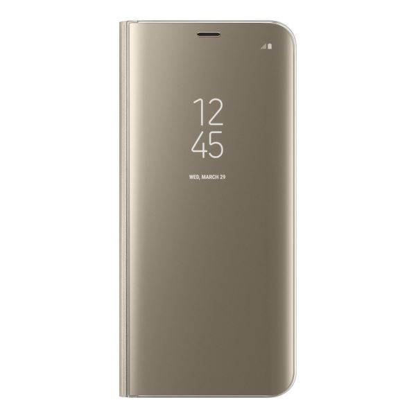 EF-ZG955CFEGWW S8 PLUS CLEAR VİEW KILIF GOLD