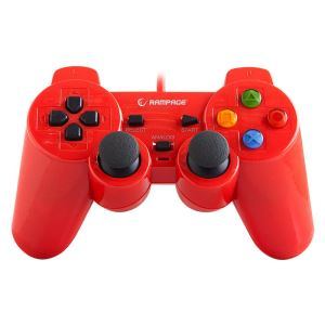 SNOPY RAMPAGE SG-R602  PS3/PC USB 1.8 JOYPAD- KIRMIZI