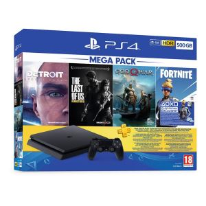 SONY God Of War+Detroit BH+The Last Of Us+3 AY PS PLUS/ PS4 500GB OYUN KONSOLU