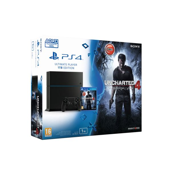 SONY Uncharted 4 A Thief's End / PS4 1TB / TUR OYUN KONSOLU