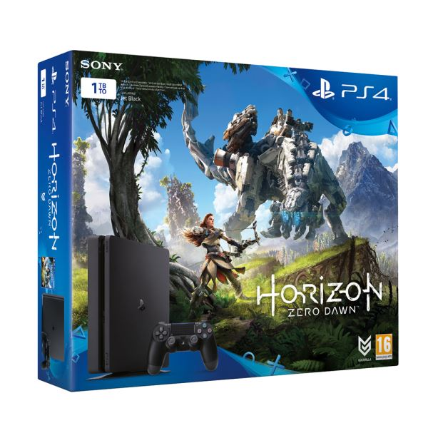 SONY Hor.Zero Dawn+Uncharted 4 + PS4 Plus 3 Aylık Üyelik 1 TB SLIM OYUN KONSOLU