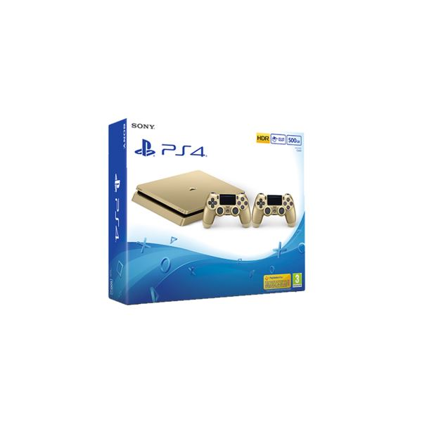 SONY PS4 Dualshock Gold v2 EAS 500GB SLIM GOLD OYUN KONSOLU