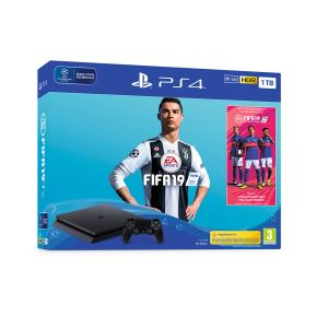 SONY FIFA 19 / PS4 1 TB F SLIM OYUN KONSOLU + PS PLUS 14 GÜNLÜK VOUCHER