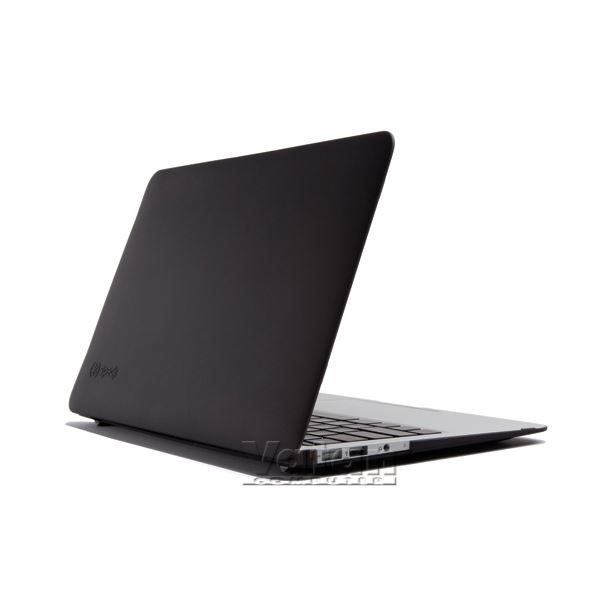 10745 SEETHRU 11'' MACBOOK AİR SATEN SERT KILIF- (SİYAH)