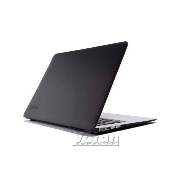12401 SEETHRU 13'' MACBOOK AİR SATEN SERT KILIF- (SİYAH)