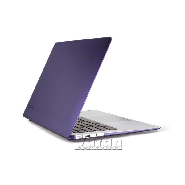 12402 SEETHRU 13'' MACBOOK AİR SATEN SERT KILIF- (MOR)