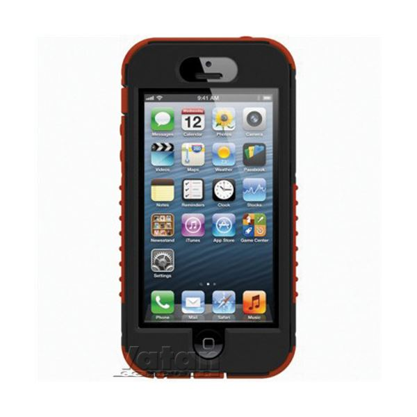 21013 SAFEPORT RUGGED İPHONE 5 SERT KILIF-  (KIRMIZI/SİYAH)
