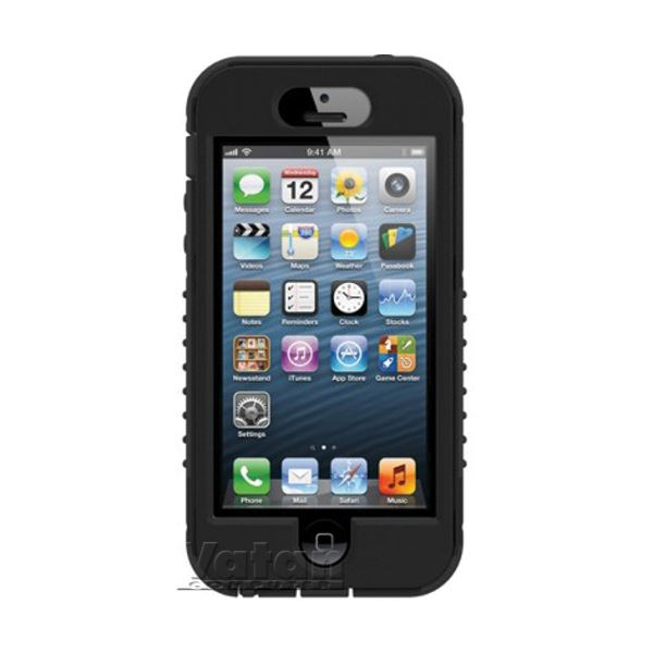 21014 SAFEPORT RUGGED İPHONE 5 SERT KILIF-  (SİYAH)