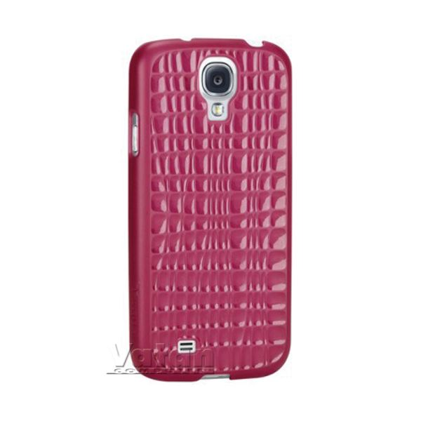 21018 SLİM WAVE GALAXY S4 SERT KILIF- (PEMBE)