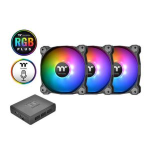Thermaltake Pure Plus Adreslenebilir 3x120mm RGB Led'li, Fan kontrollü, Kasa fan