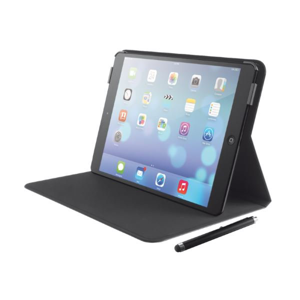 19545 STİLE FOLİO IPAD AİR STAND KILIF VE KALEM- (SİYAH)