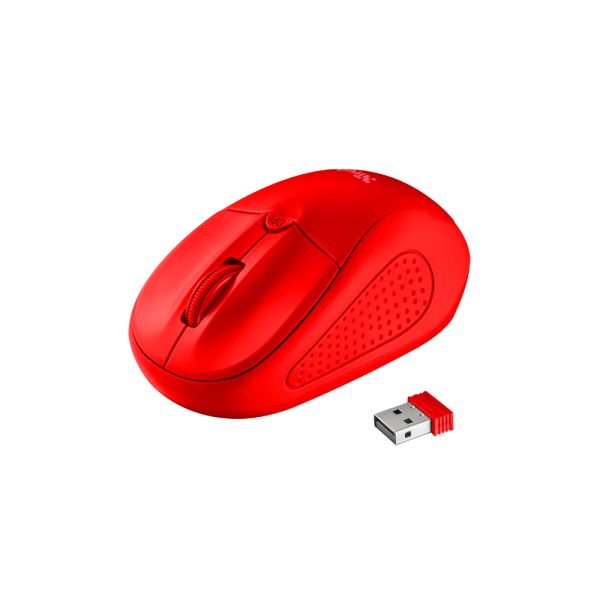 TRUST 22138 Primo Wireless Mouse - matte red