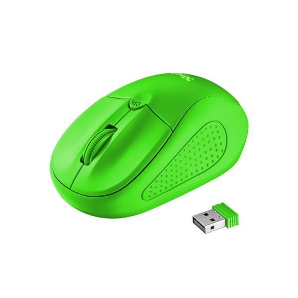 TRUST 21922 Primo Wireless Mouse - neon green
