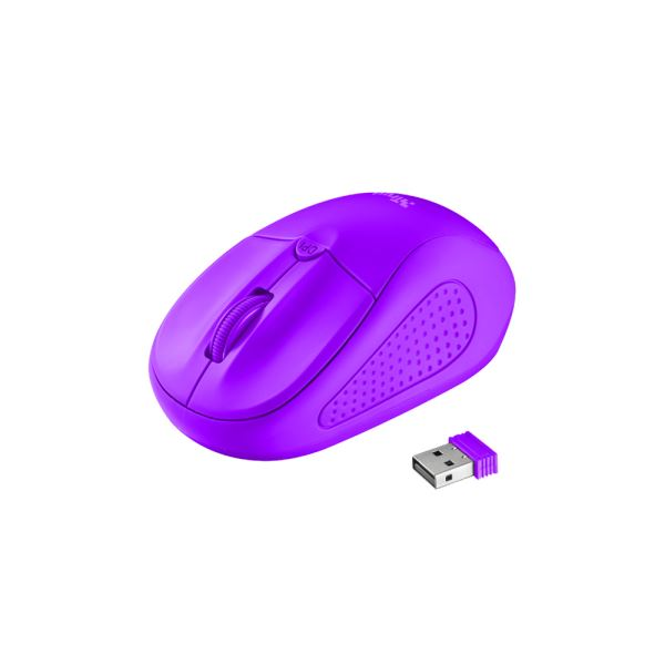 TRUST 21924 Primo Wireless Mouse - neon purple