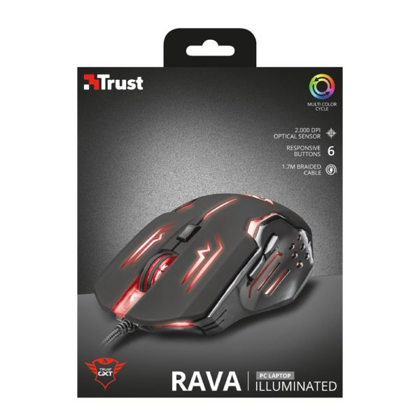 TRUST 22090 GXT 108 Rava Illuminated Gaming Mouse