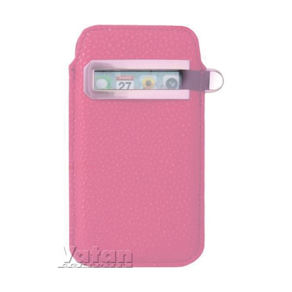 iPhone 4/4S Metal Pencereli Kılıf Pembe