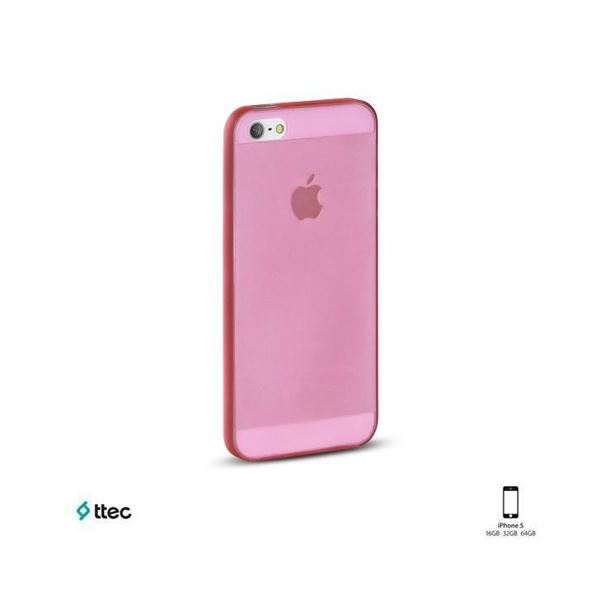 2PNA282P PROTECTİVE CASE IPHONE 5 SAYDAM KILIF 0.35MM- (PEMBE)