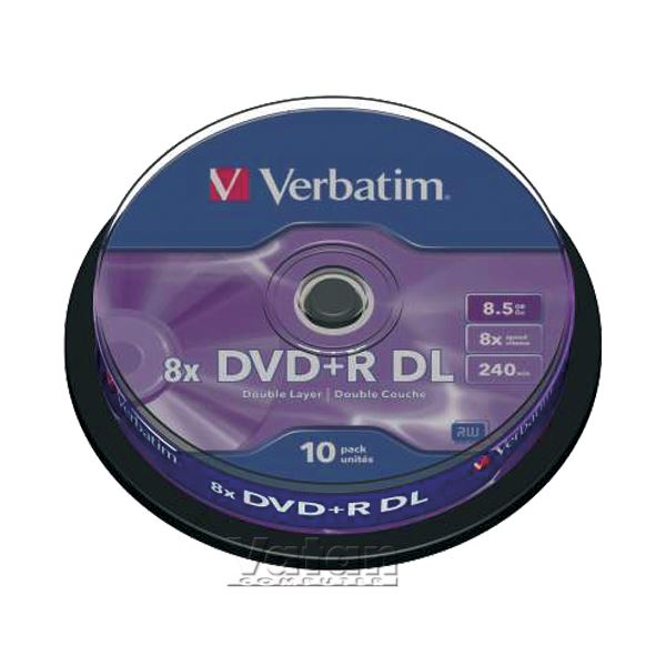 DVD+R DOUBLE LAYER 8X 8.5 GB 10'LU CAKE BOX
