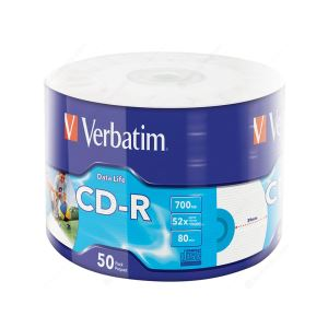 VERBATIM CD-R 52X 700MB 50'Lİ WRAP INKJET PRİNTABLE (43794)
