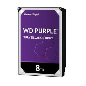 WD Purple 3.5'' 8TB 256MB SATA III 6Gb/s 7/24 Güvenlik