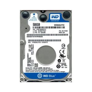 "WD Blue 2.5"" 500GB 16MB SATA 6 Gb/s 5400 RPM 7mm"