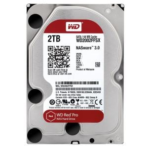 "WD 3,5"" 2TB Red Pro Sata 3.0 7200Rpm 64MB Cache Nas Harddisk"