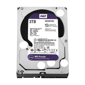 WD Purple 3.5'' 3TB 64MB SATA III 6Gb/s 7/24 Güvenlik