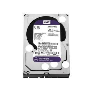 WD Purple 3.5'' 6TB 64MB SATA III 6Gb/s 7/24 Güvenlik
