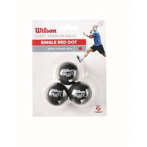 Wilson Squash Topu Staff 3 BALL RED DOT ( WRT618200 ) FNS-TOPSQSWIL007