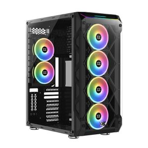 XIGMATEK OVARTAKE 6x120mm FAN + RAINBOW LED BAR USB3.0 GAMING KASA