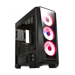 MYSTIC 9 650W 80PLUS POWER 4 ADET KIRMIZI 15 LED FANLI USB3.0 TEMPER CAMLI KASA