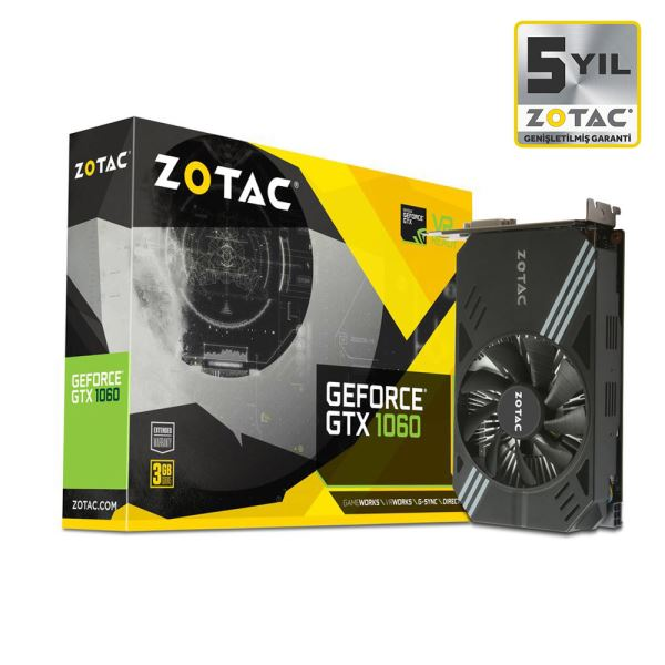 Zotac GTX1060 MINI EDITION GDDR5 3GB 192Bit Nvidia GeForce Ekran Kartı