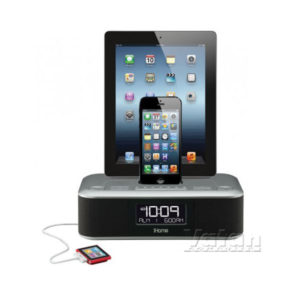 iHOME Radyolu Speaker, 2 Lightning Dock + 1 USB Şarj