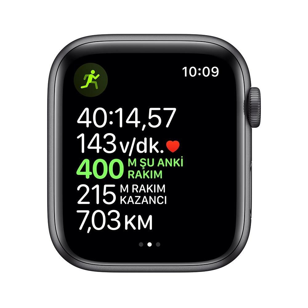 Apple Watch Nike Series 5 GPS, 44mm Space Grey Aluminium Case with Anthracite/Bl