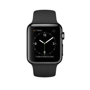 Apple Watch 38mm Space Black Stainless Steel Case with Black Sport Band Demo