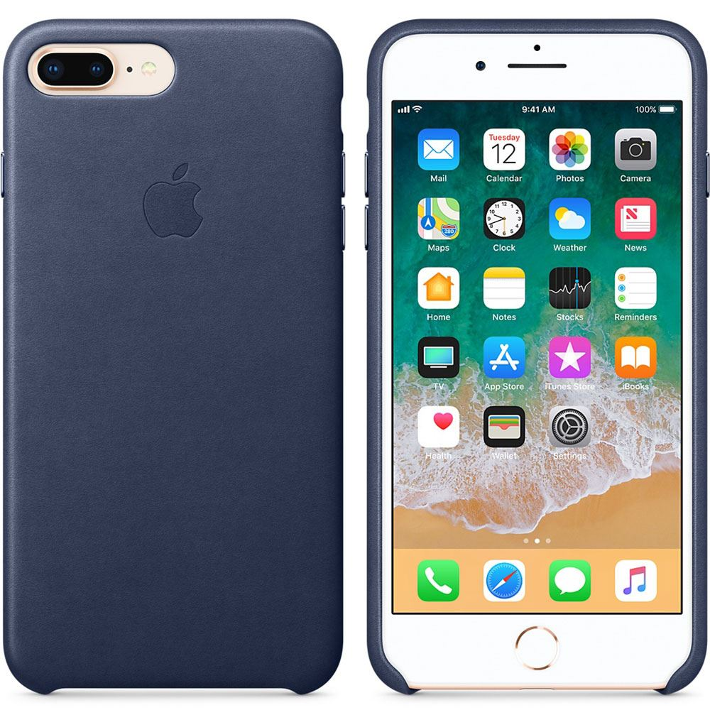 APPLE MQHL2ZM/A IPHONE 8 PLUS /7 PLUS DERİ KILIF- (GECE MAVİSİ)
