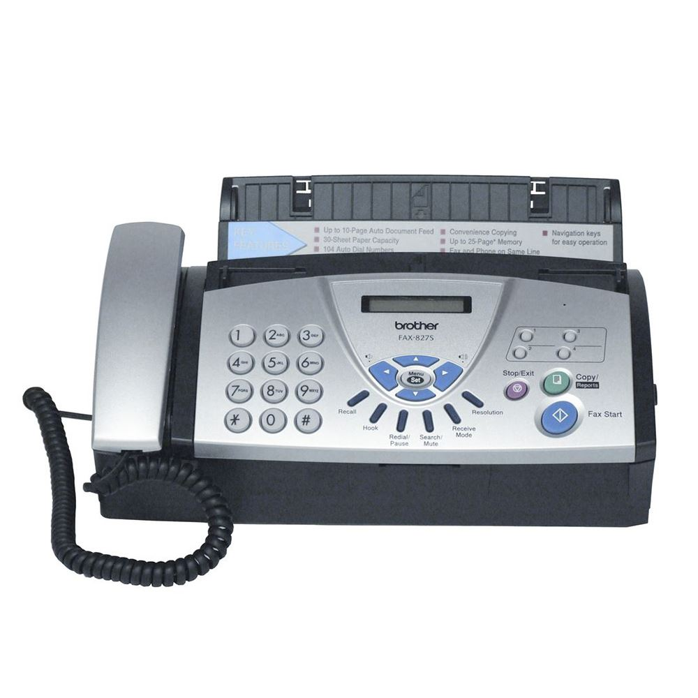 BROTHER FAX-827S TERMAL TRANSFER FAKS